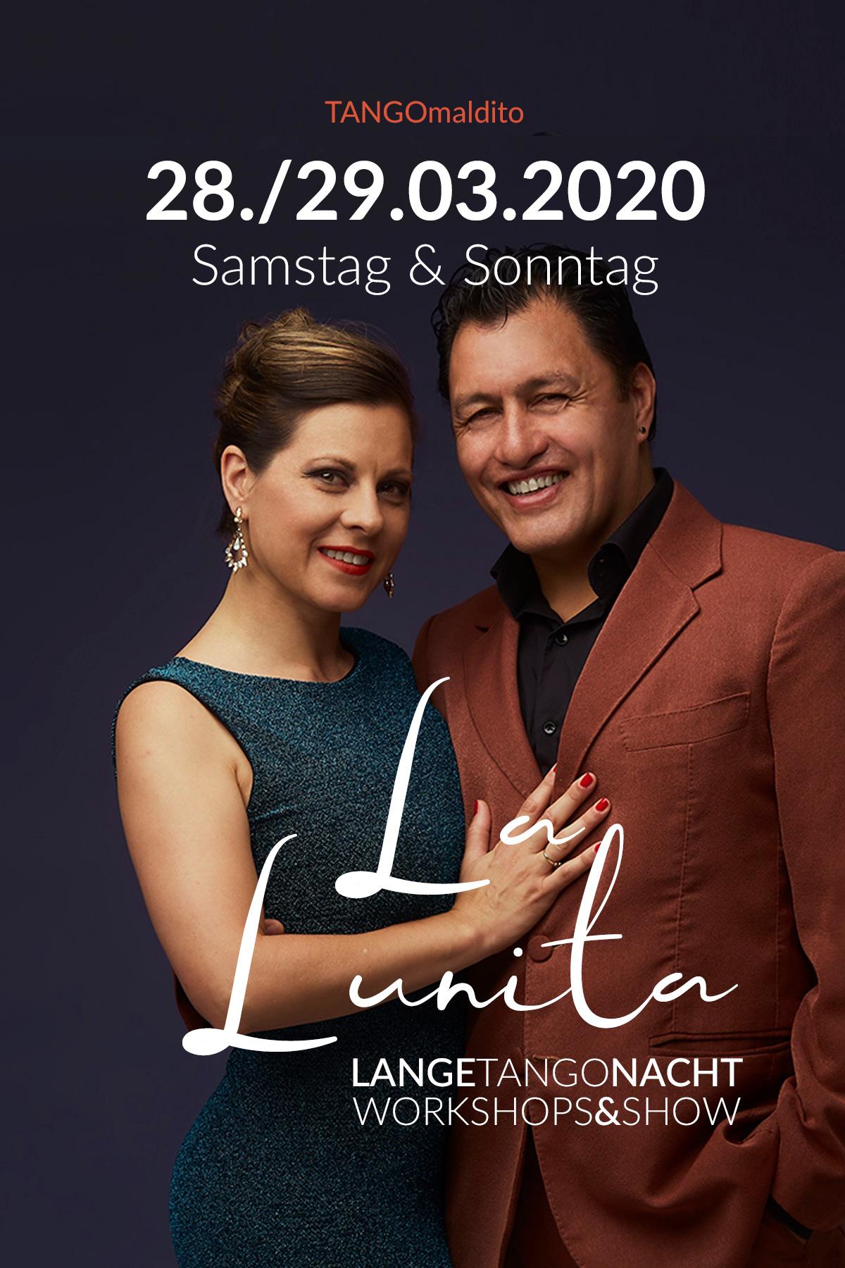TANGOmaldito München - LaLunita - Lange Tango Nacht und Workshopwochenende mit Héctor Corona und Silvina Machado.